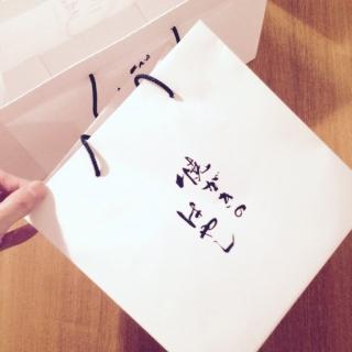 お弁当も入れられる紙袋の試作。