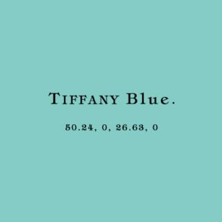 TIFFANY Blue.のCMYKから考えられることや可能性として